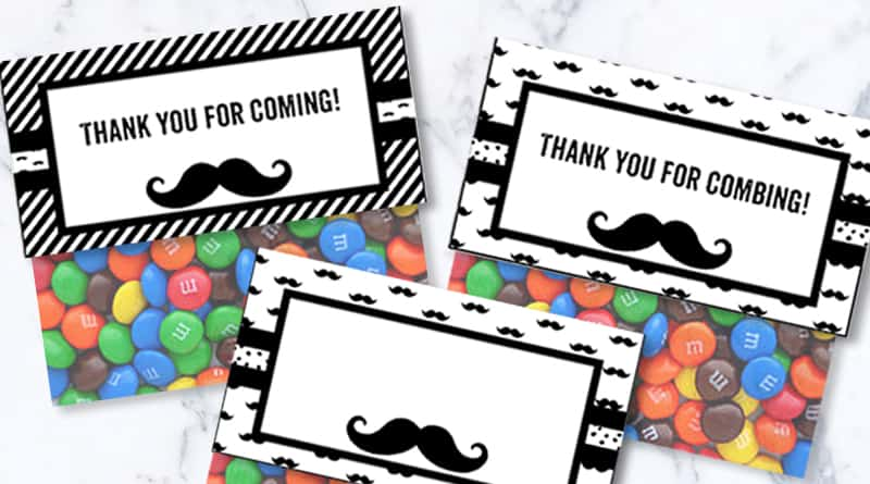 Mustache Papers - Free Printable Digital Patterned Paper Su2026