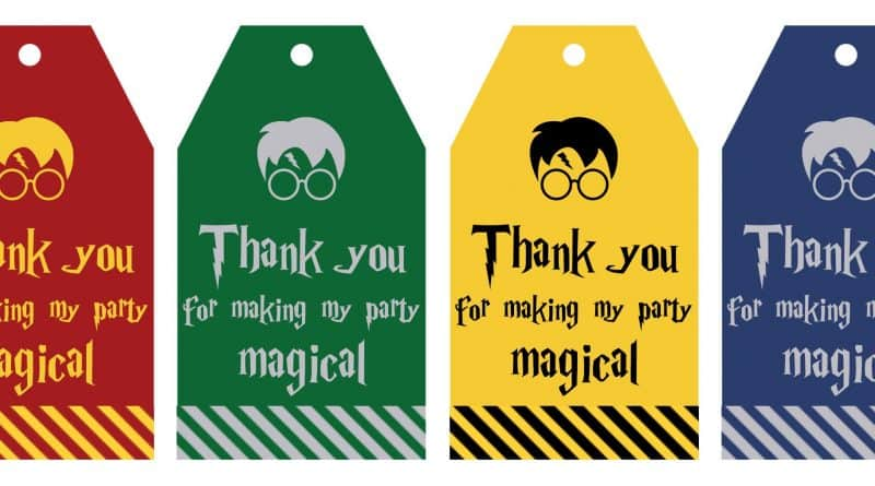 Free Printable Harry Potter Party Favor Gift Tags - Lovely Planner