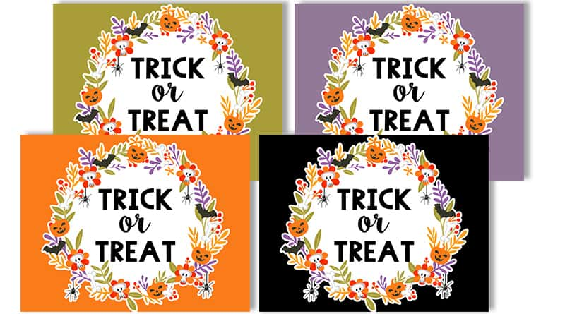Free Printable Halloween Trick or Treat Signs - Lovely Planner