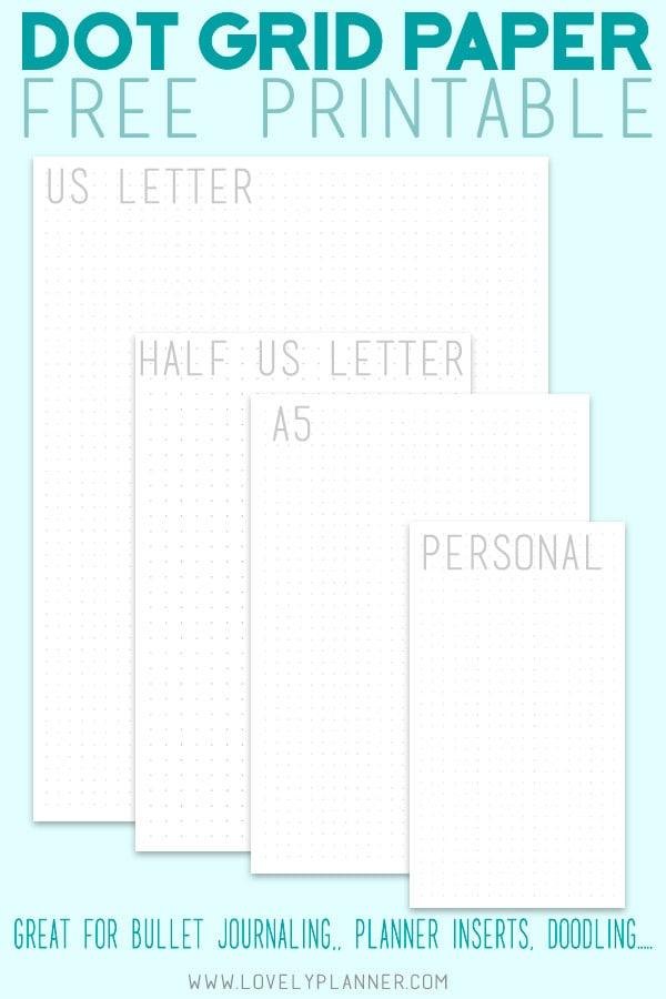 Free Printable Dot Grid Paper for Bullet Journal - Lovely Planner
