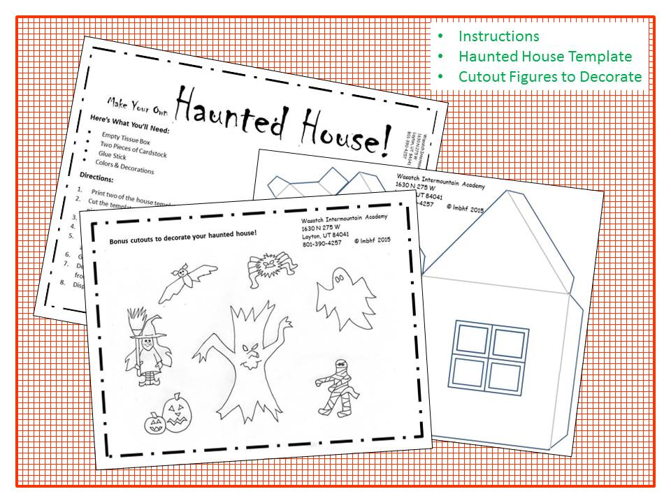 Haunted House Craft - Free downloadable, printable, Halloween Craft
