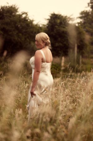 Hayley in her Jenny Packham gown...