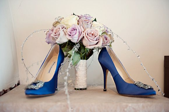 Purple Perfection and Manolo Blahnik Sparkly Blue... (Weddings )