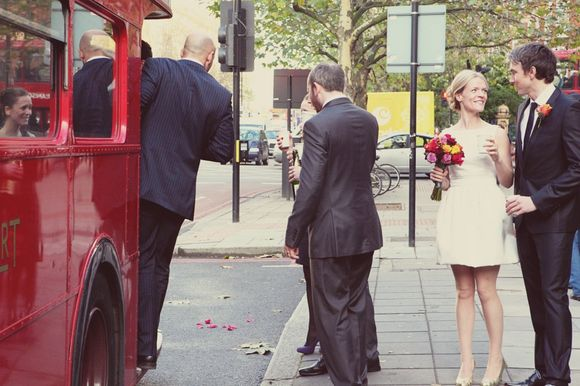 A Short Tulip Wedding Dress for a Winter Wedding in London... (Weddings )