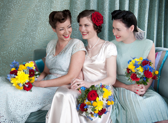 1940s Bridesmaids and Wedding Inspiration
