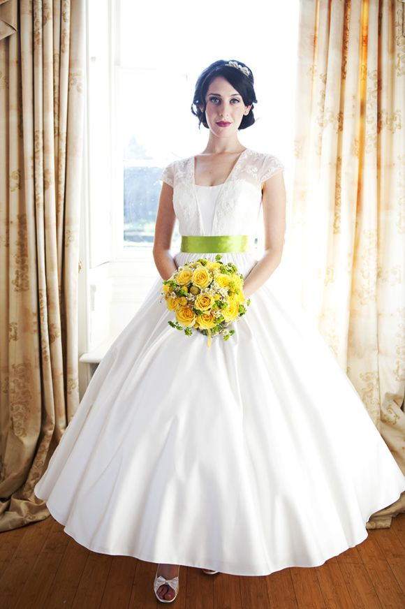 'Good-day Sunshine!' ~ Yellow & Lime Green Wedding Day Love... (Bridal Fashion )