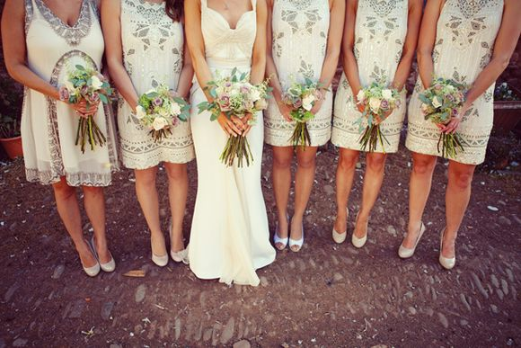 A Bride Designs Her Own Dress For Her Relaxed Summer, Vintage Vibe Wedding... (Weddings )