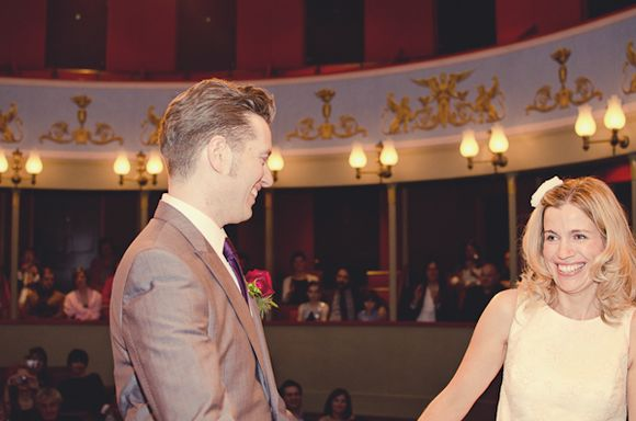 A Theatre Wedding For A Bride Who Made Her Own Dress (Weddings )