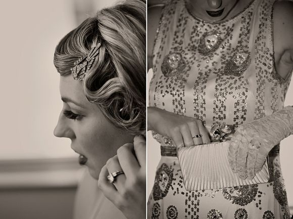 A 1920s Inspired City-Chic London Wedding ~ Vintage Dinner Suits, Black Tie & Casino... (Weddings )