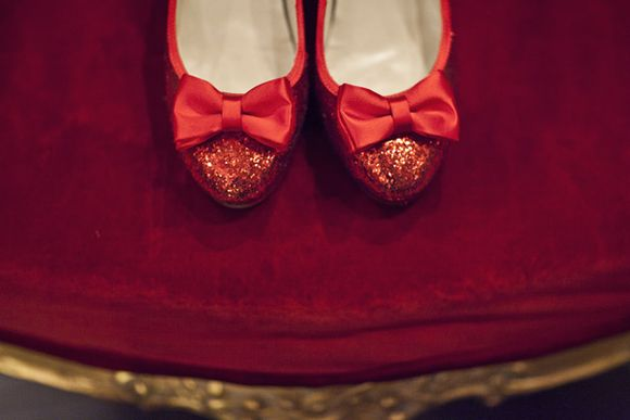 Dorothy/Wizard of Oz sparkly red wedding shoes