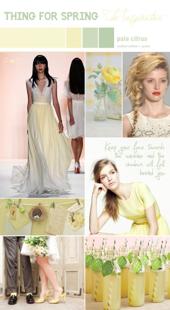 Bridal Inspiration Board #38 ~ That Spring Thing... (Mood + Inspiration Boards )