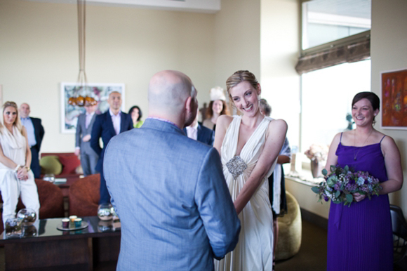 A Pretty, Purple, Intimate Seaside Wedding at the Scarlet Hotel... (Weddings )