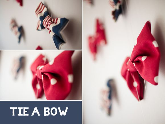 Red and blue bow ties - How to make a bow tie tutorial