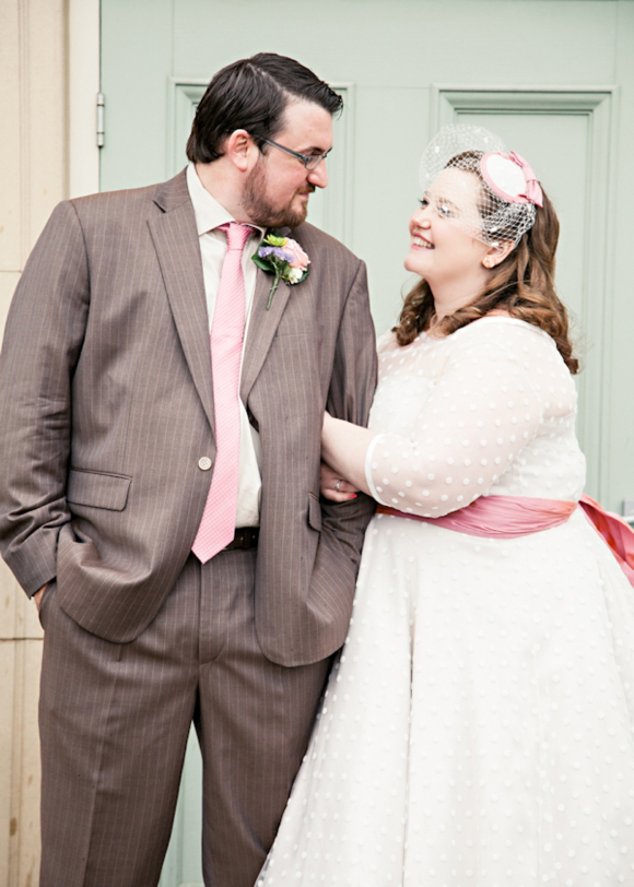 A Polka Dot Candy Anthony Wedding Dress & Pink Patent Shoes... (Weddings )