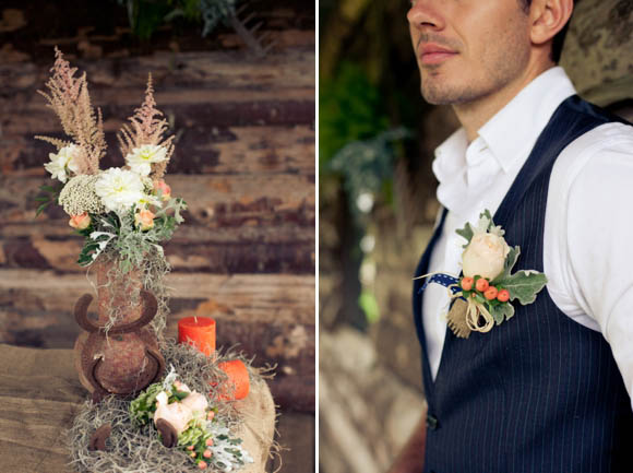 'OK Corral!' ~ Rustic Barn and Coral Charm Wedding Day Styling Inspiration... (Styled Shoots )