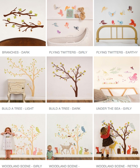 Reusable fabric wall art stickers by Love Mae