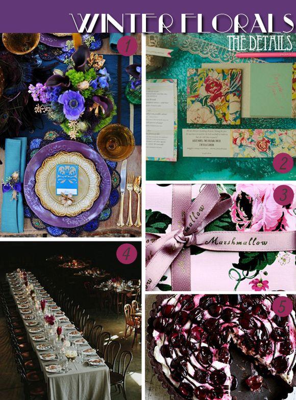 Bridal Inspiration Boards #49 ~ Winter Florals (Mood + Inspiration Boards )