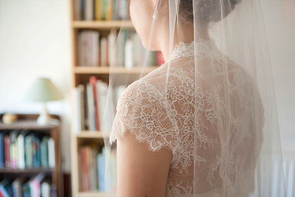 A French Lace Wedding Dress Made by the Mother of the Groom (Weddings )