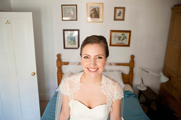 French lace wedding dress made by the Mother of the Groom Photography by Victoria Phipps