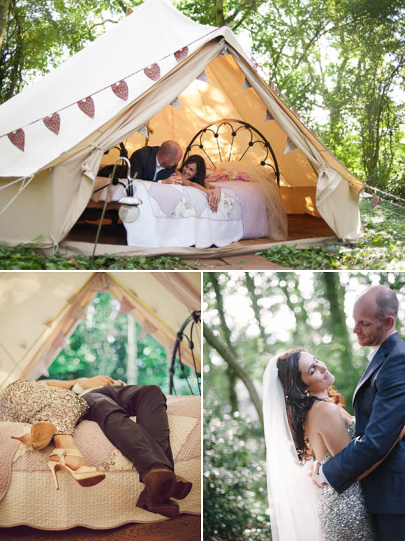 Gold Sequins, Glamour and a Wedding Camp Village in the Garden... (Weddings )
