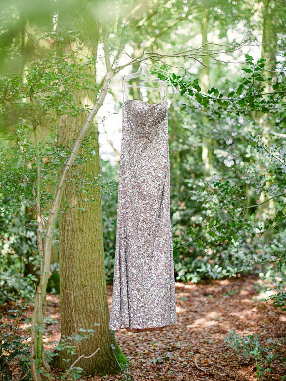 Gold sequin wedding dress