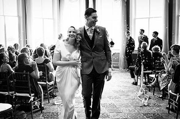 A BHLDN Wedding Gown for a Howard Hughs Aviator Vintage Inspired Wedding