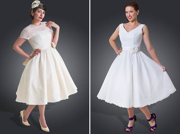 Short, Tea Length and 1950's Inspired Wedding Dresses by Cutting Edge Brides + Savings For Love My Dress Readers ()