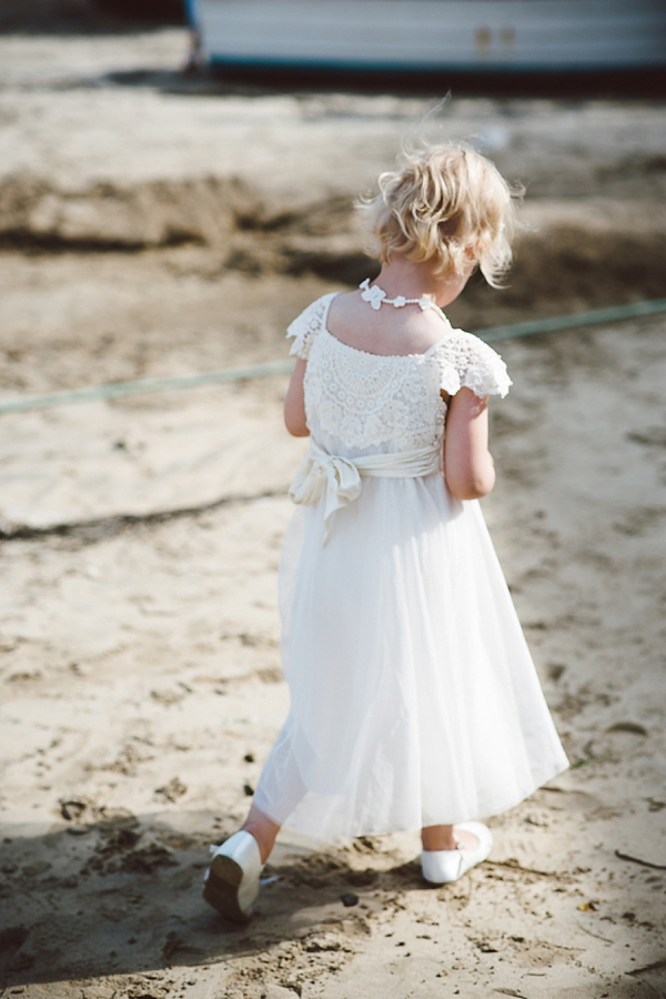 Bare foot bride by the beach