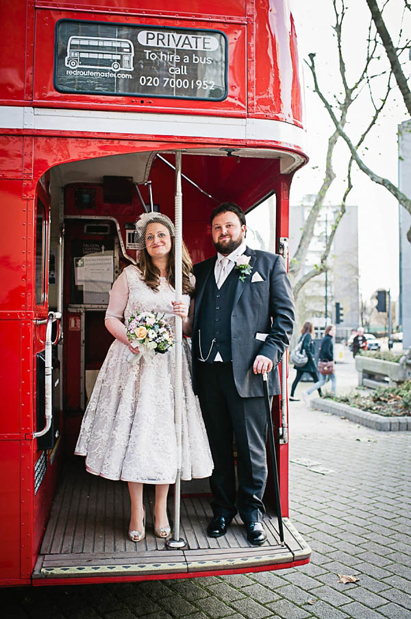 A 1950s Style Tea Length Wedding Dress For A Vintage Inspired London Bride (Weddings )