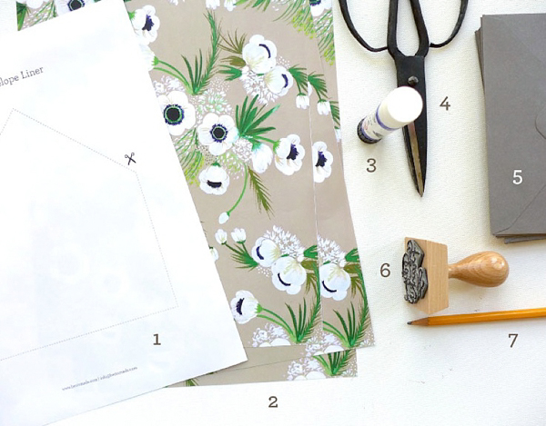 DIY Fancy Wedding Envelope Liner Tutorial by Berinmade for Love My Dress