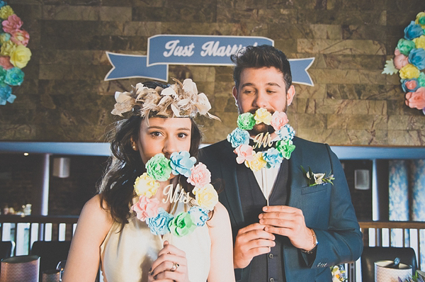 Pastel Paper Flowers, Blue Ostrich Feathers and A Fancy Floral Crown... (Films )