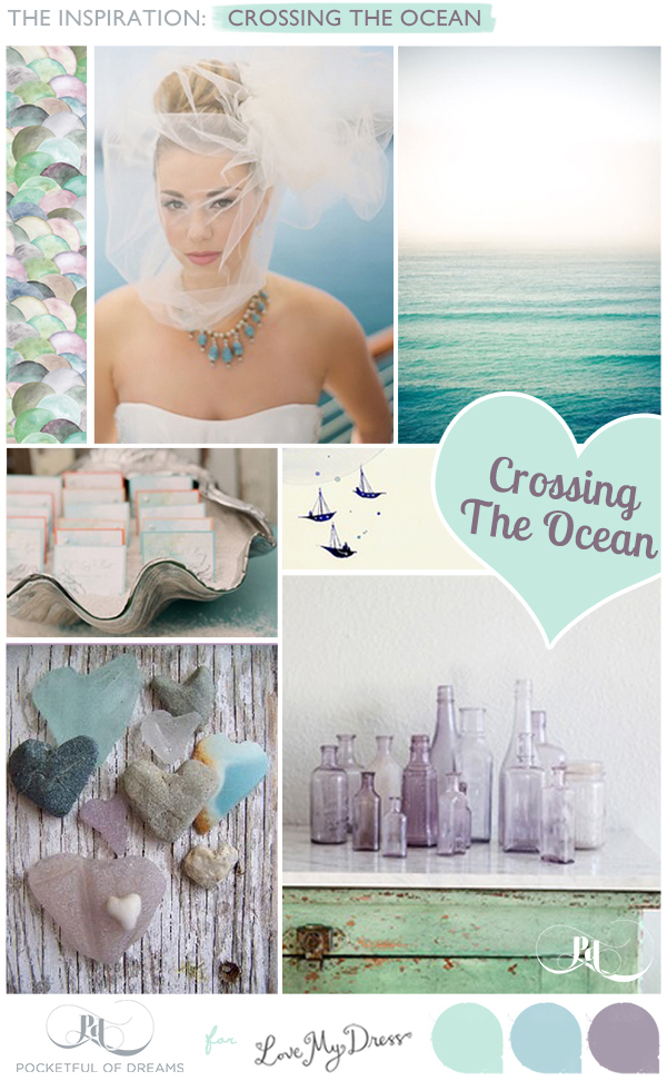 Bridal Inspiration Board #64 ~ Crossing The Ocean (Mood + Inspiration Boards )