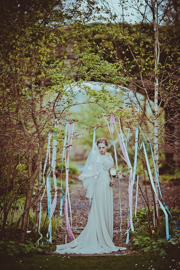 Pastel Pretty, Quirky and Alternative Garden Party Wedding Inspiration ()