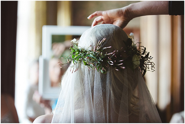 An Heirloom Wedding, Flower Crown and Vera Wang (Weddings )