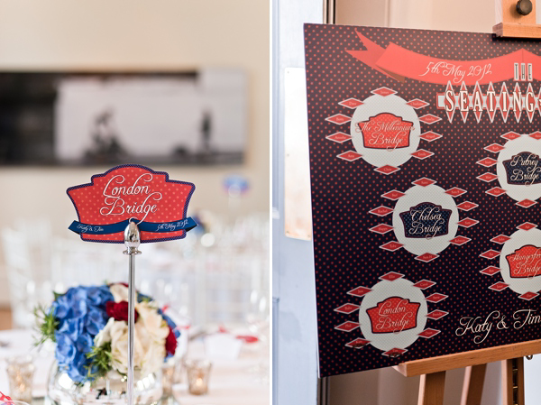 A Red, White and Midnight Blue London City Wedding