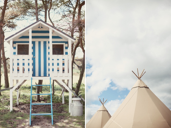 Blue Wedding Shoes, A Short Dress And Tipis For A Humanist Celebration On The Beach (Weddings )