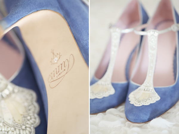 Emmy blue wedding shoes, humanist wedding, seaside wedding, Scottish wedding, Craig & Eva Sanders Photography