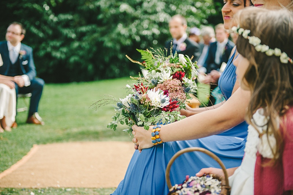 Tipis, A Pretty Trailing Floral Headpiece And Vintage Gown ~ The Charming Outdoor Humanist Wedding of Katie and Tim (Weddings )