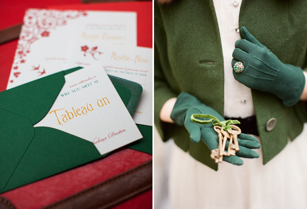 An Amelie and 1950s Inspired Parisian Bride (Styled Shoots )