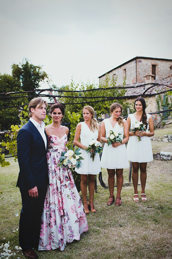 Wedding in Italy, Italian wedding, Wendy Makin wedding dress, Summer garden party wedding, outdoor wedding, Photography by Claudia Rose Carter