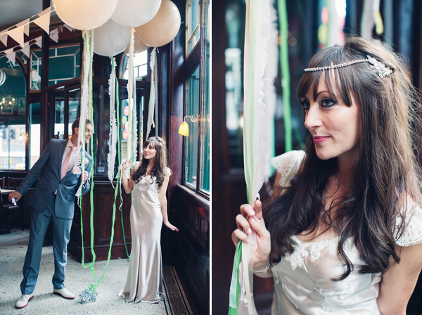 A 1930s Style Silk Bias Cut Gown For A 'Bright Lights Big City' Inspired London Wedding (Weddings )