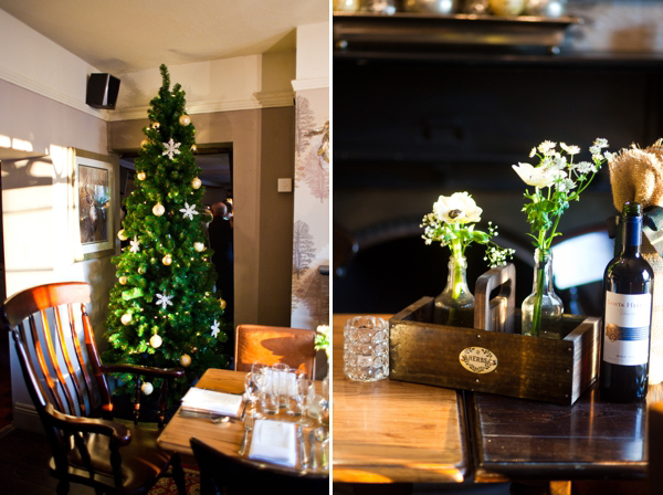 Jenny Packham Glamour for a Cosy Winter Pub Wedding (Weddings )