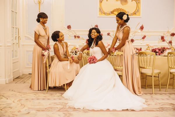 Luxury bridal wear by Yemi Kosibah, Savoy hotel wedding