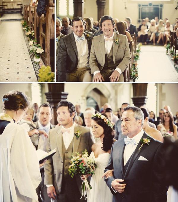 Tweed, Pretty Peach and Pastel for an Oxfordshire Barn Wedding (Weddings )