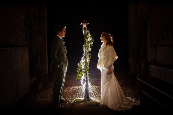 A 1940s Rita Hayworth Inspired Gown For a Most Magical and Beautiful Narnia Wedding (Films Weddings )