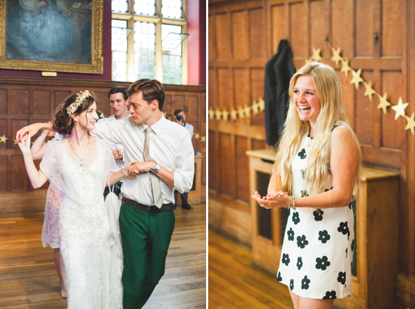 Azalea by Jenny Packham and a Delicate Floral Crown for a Bohemian Meets Edwardian Style Wedding At Emmanuel College, Cambridge (Weddings )