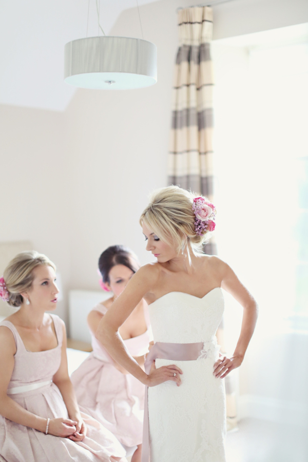 La Sposa wedding dress // soft pink romantic wedding // Craig & Eva Sanders Photography