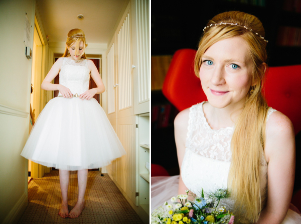 Kitty & Dulcie Pearly Queen wedding dress // Low cost budget wedding // DIY wedding // Tracey Hosey Photography