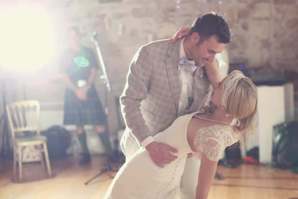 A Pastel Pink, Gatsby Glamour Inspired Scottish Country Wedding (Weddings )