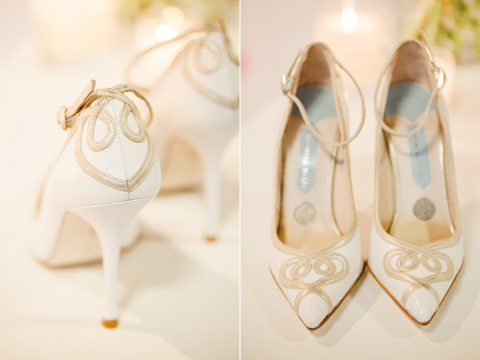 Charlotte Mills wedding shoes at The White Gallery, London, April 2014
